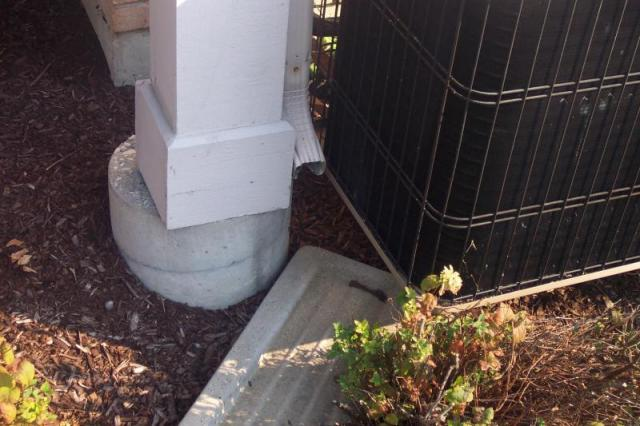 Missing Downspout Extension